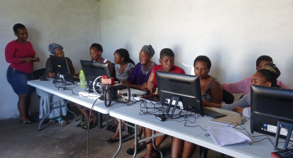 Unemployed youth learn basic computer skills