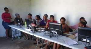 Unemployed youth learn basic computer skills