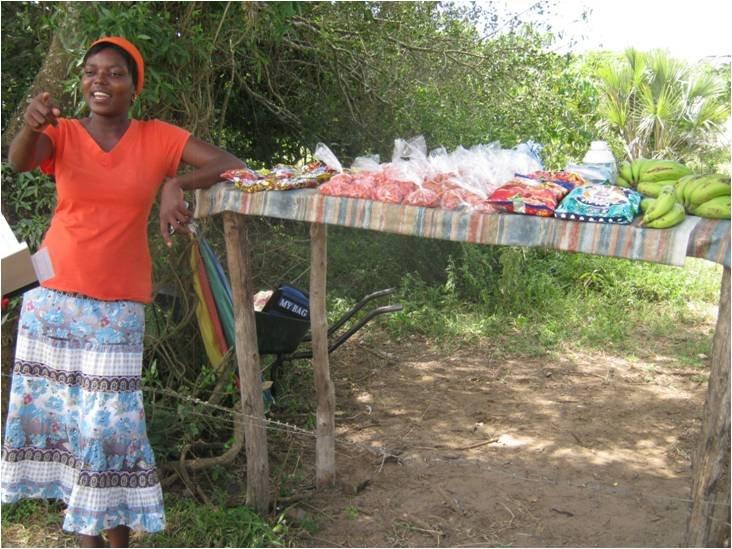 Samukelisiwe Mkhize selling from her stall