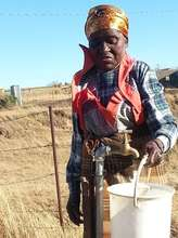 Mam' Dladla paid for her own water tap