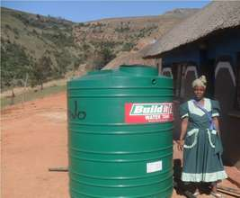 Mam' Hlophe purchased a water tank for her home