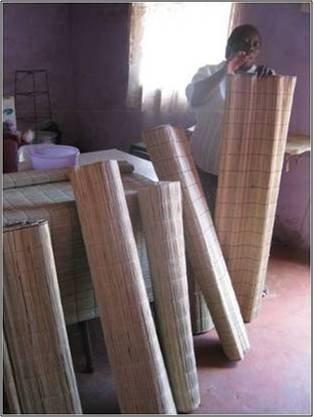 Zanele Magwaza, Zamukuphila SHG displays reed mats