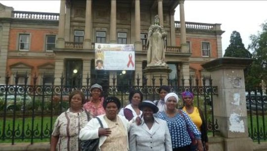 SHG women outside KZN parliament