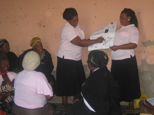 SHG members share lessons from HIV/AIDS training