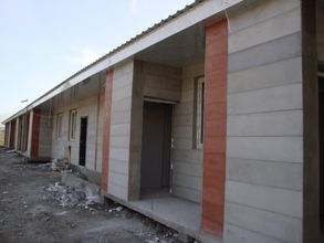 The 15 houses close to completion, 2