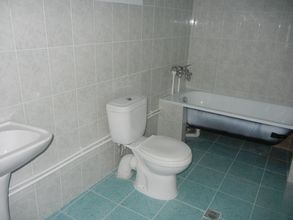 The bathroom, all 15 houses have such bathrooms