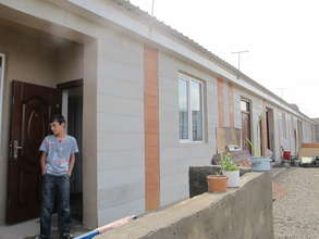 The row of 15 newly built homes