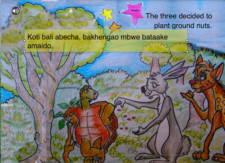 A screenshot from the Mama Mtoto digital book