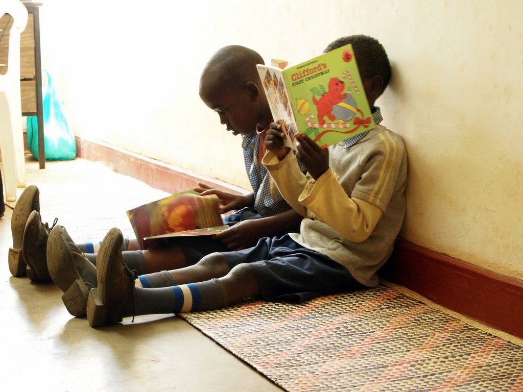 Kids in Busia Community Library