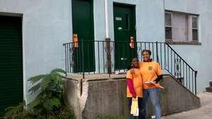 Mother-son volunteer team in Nicetown
