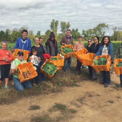 Coalition staff at Carversville Farm Foundation