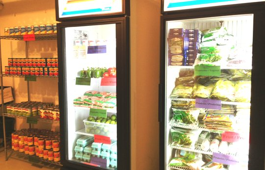The frozen section at our pantry