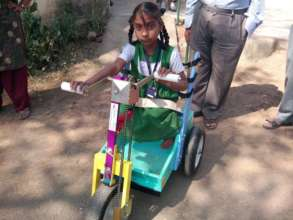 Pyria gets mobility in India, her friends wait
