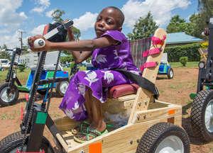 Kenyan Girl Receives Child PET 2015