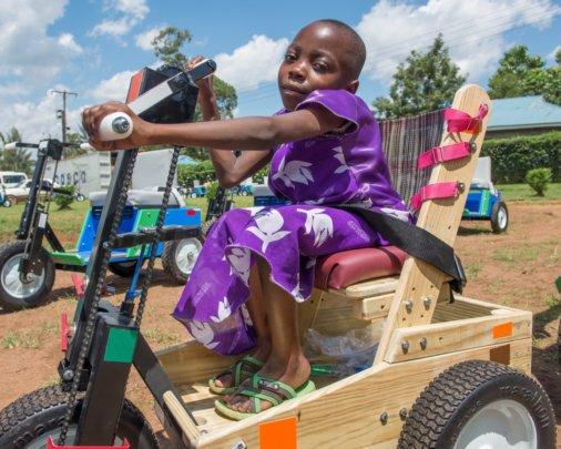 Kenyan girl rolls along!