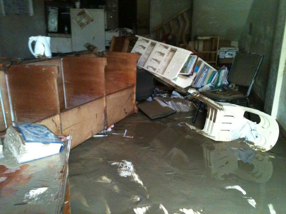 The KI Office after the flooding