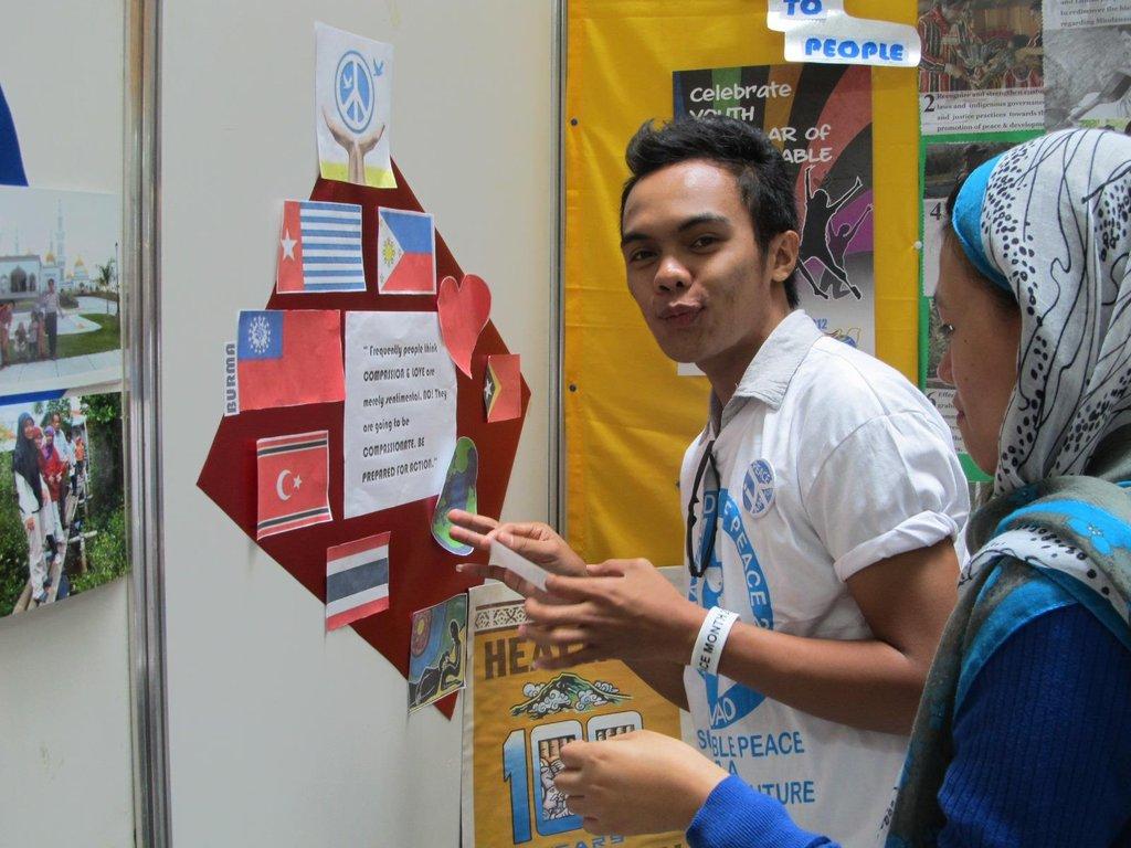 Working at Davao Peace Fair 1