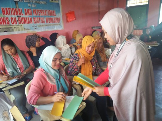 Rohaima facilitating a workshop