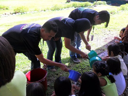 Actual Handwashing Activity with the participants