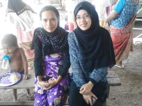 Amal (right) with one of the women participants