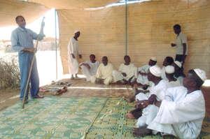 Community members participate in a training.