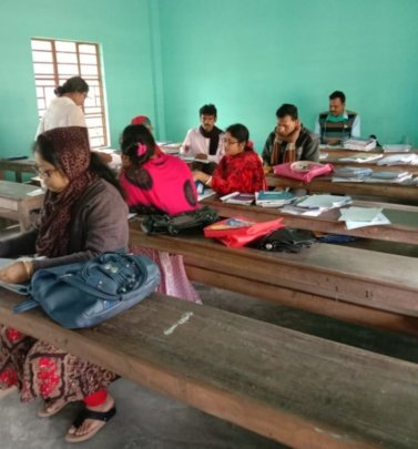 Teachers assessing work completed at home