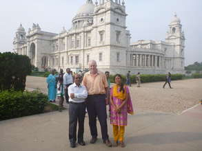 Alindra, Agnes N and DS, Victoria Memorial Kolkata