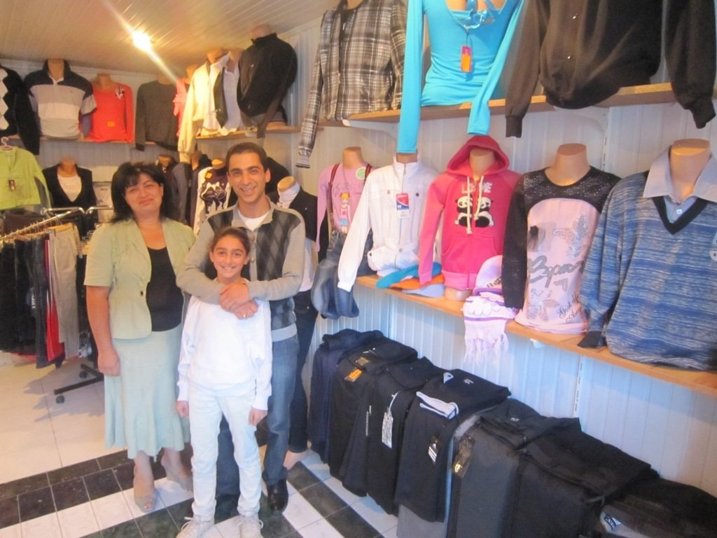 Armenian entrepreneurs in their retail shop