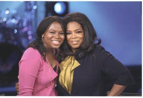 Former Student, Khadijah with Oprah Winfrey