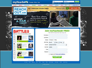 myYearbook homepage takeover