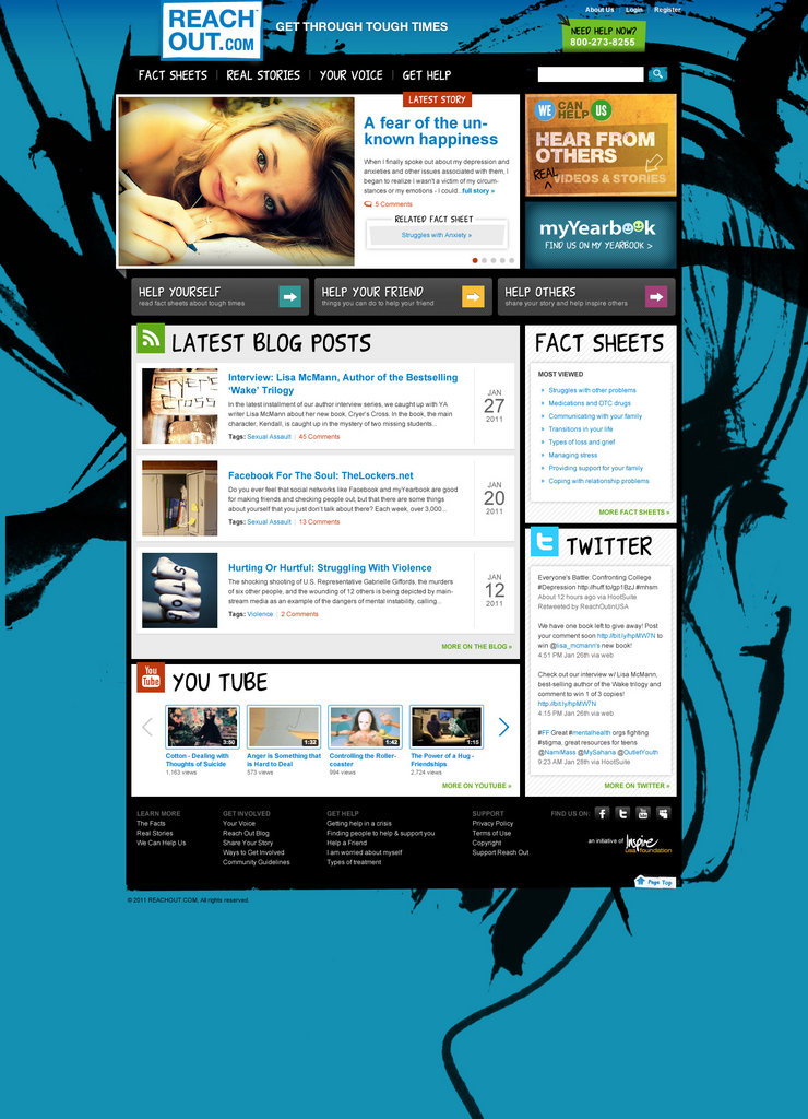 New Reach Out hompage launching in mid April
