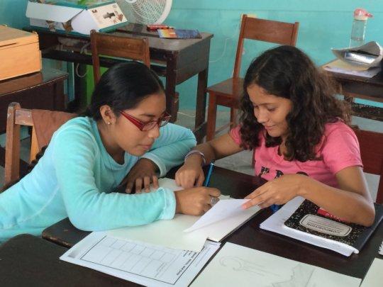 Peer tutoring - Art class