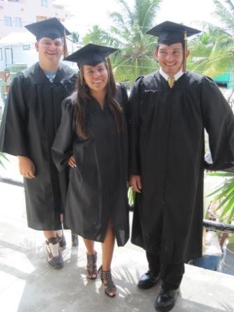 Graduates Morgan, Lexee, Danny