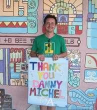 Volunteer fundraiser Danny Michel