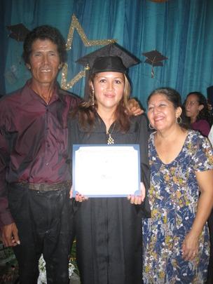 Proud parents and graduate