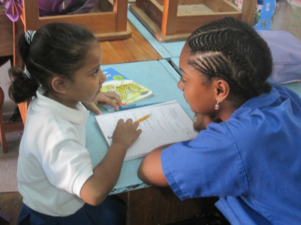 Tutoring children at the primary school