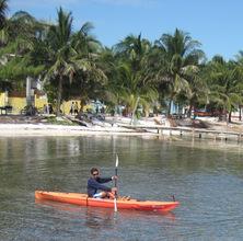 Kyle kayaking