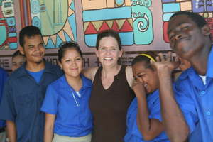 Co-Founder Heidi Curry with Students