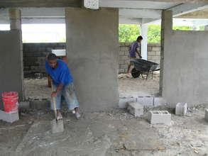 Students Building New Classroom