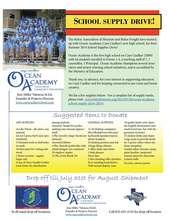 Houston School Supply Drive until July 31st