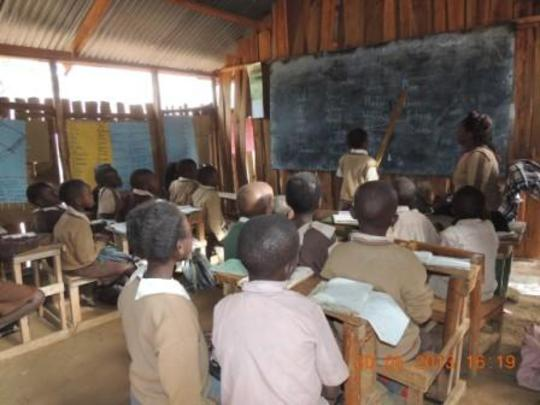 Inside the Wooden Classrooms