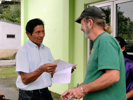 Bienvenido Cruz C., Pres. of Council  w/Daniel