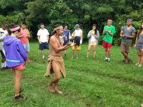 Majima, the shaman, teaching and entertaining
