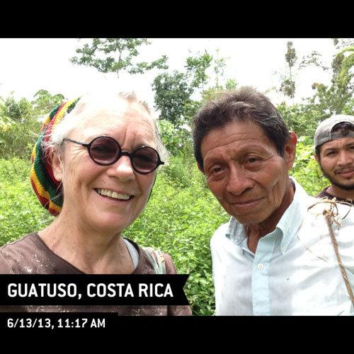 Bienvenido and me with Allan Hernandez in the bush