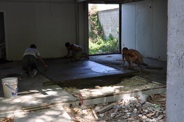 Laying Concrete Floor