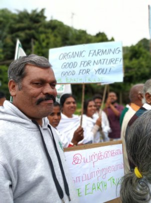 THE ET TEAM AT THE FARMERS' RALLY