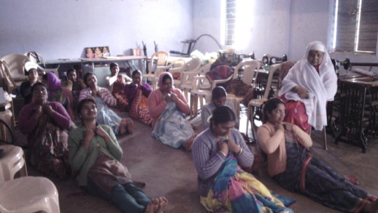 Yoga under  gaze of an elder, machines to be used