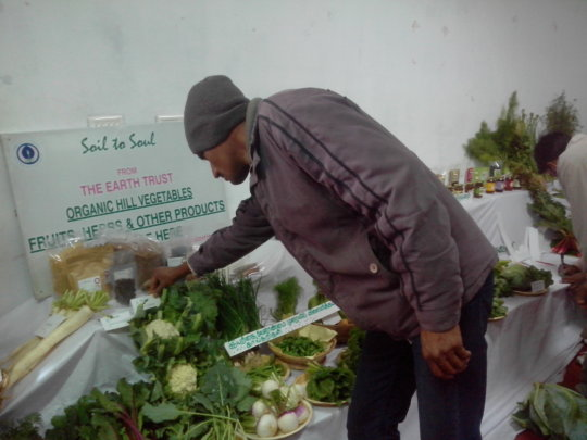 Display of organic products by ET's Farm Manager