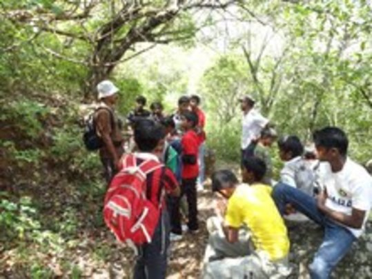Students in a Shola Forest
