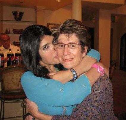 Ayesha with WAW Board member, Esther Hyneman